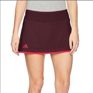 Adidas Women's US Open Skirt Skort Dark Burgandy S